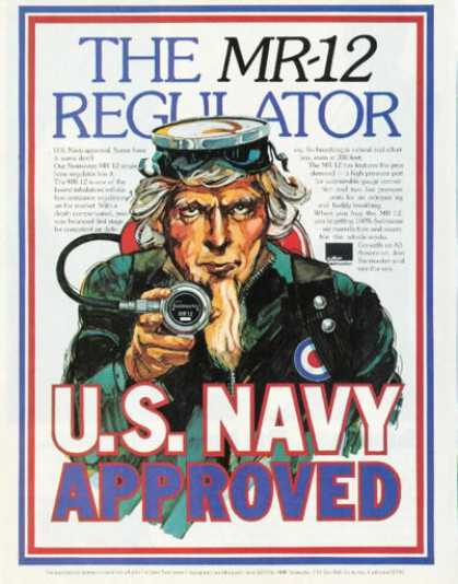 Us Navy Uncle Sam Mr-12 Swimaster Regulator (1973)