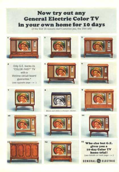 General Electric Ge Tv Television13 Models (1964)