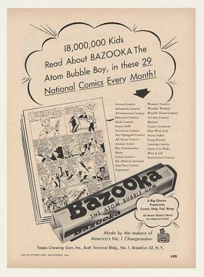 Bazooka Atom Bubble Gum Bubble Boy Comics Trade (1948)