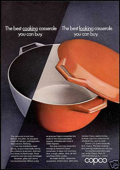 Copco Cast Iron Casserole Pot Photo (1969)