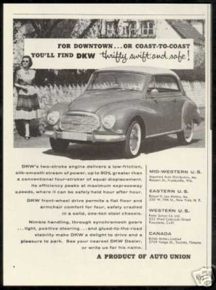 DKW Photo Print Auto Union Car Vintage (1959)