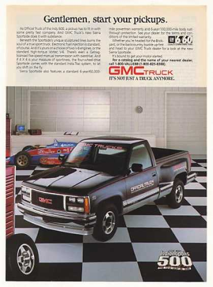 GMC Sierra Sportside Official Indy 500 Truck (1988)