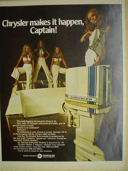 Chrysler Marine Makes it happen captain (1970)