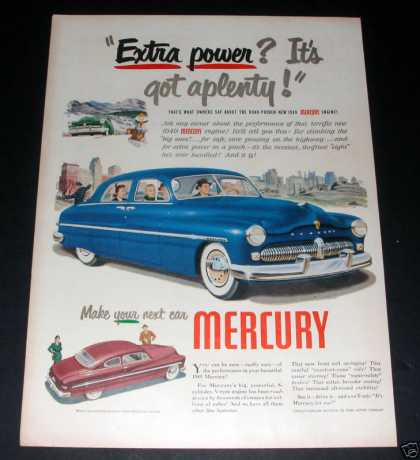 """Make Your Next Car a Mercury"" Ad, Ex (1949)"