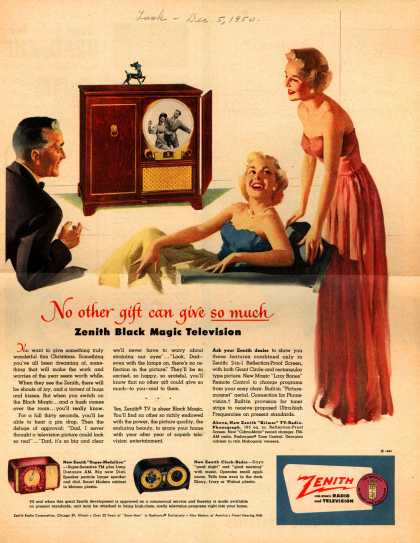 Zenith Radio Corporation's Various – No other gift can give so much. Zenith Black Magic Television (1950)