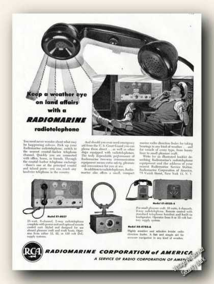 Rca Radiomarine Radiotelephone Photos Ad Boats (1947)