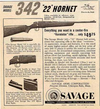 Savage's Model 342 .22 Hornet Rifle (1951)