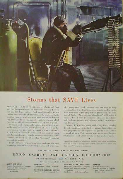 Union Carbide Storms that save lives Stainless Steel (1941)