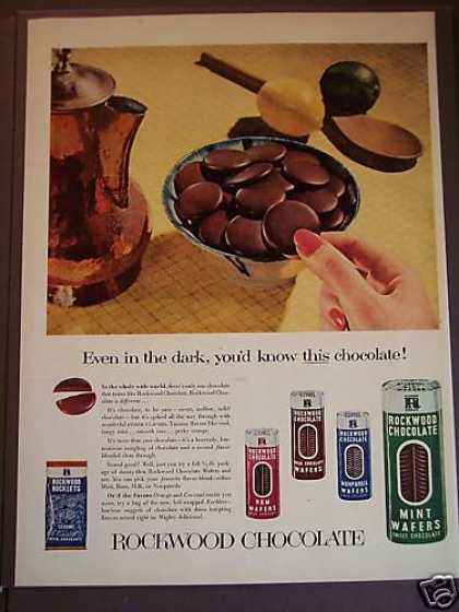Rockwood Chocolate Wafers (1953)
