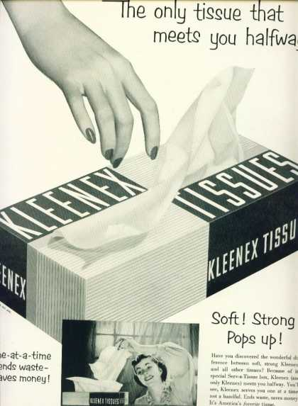 Kleenex Tissues One at a Time C (1953)