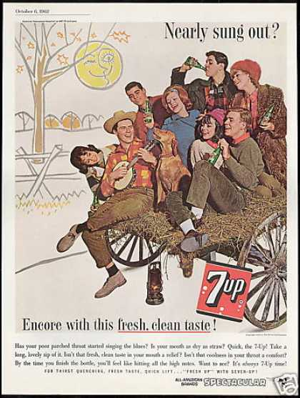 Hay Wagon Dog Banjo 7up 7-up Seven up (1962)