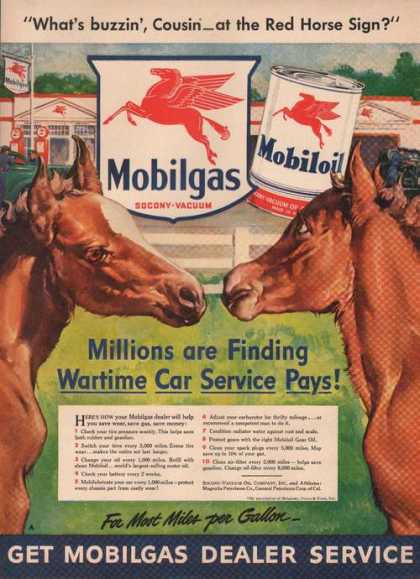 What's Buzzin Cousin Mobil Gas & Oil (1942)