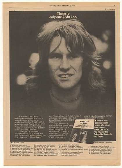 Alvin Lee In Flight Album Tour Photo (1975)