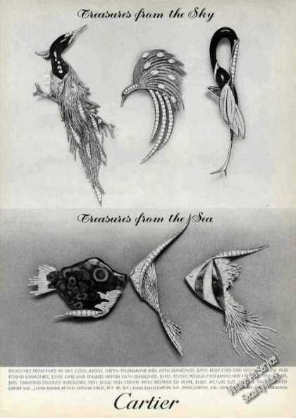 "Cartier ""Treasures From the Sky & Sea"" Brooches (1964)"