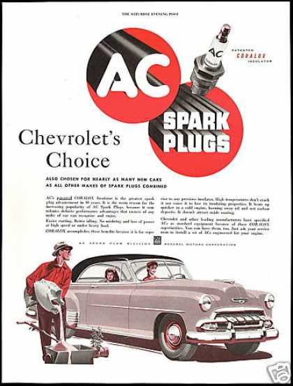 Chevrolet 2 Dr Deluxe AC Spark Plugs Art (1952)