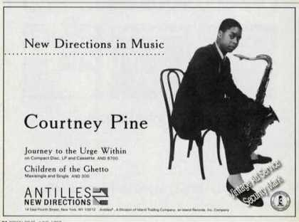 Courtney Pine Photo Saxophone Album Promo (1989)