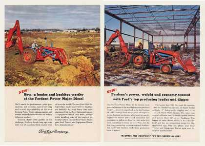 Ford Super-Duty Loader Backhoe Tractor 2-Page (1960)