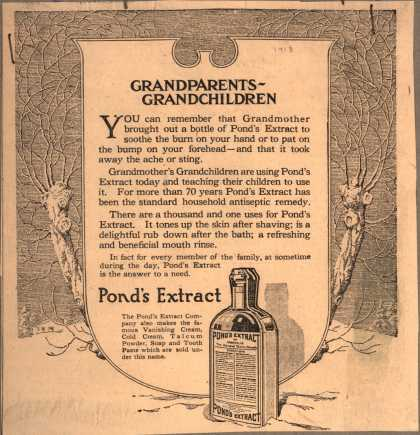 Pond's Extract Co.'s Pond's Extract – Grandparents...Grandchildren (1913)