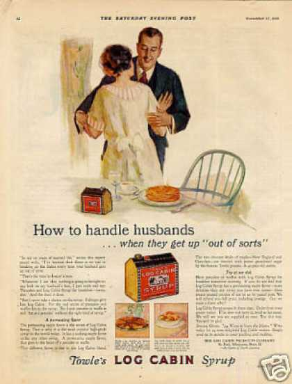 Log Cabin Syrup Color Ad &quot;How To Handle... (1926)