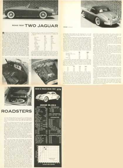 Jaguar Xk-150-s Roadster Road Test Print Article (1958)