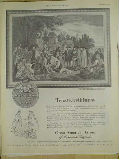 Great American Group of Insurance Companies. Trustworthiness (1952)