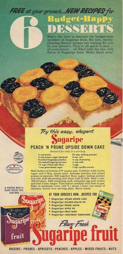 Sugaripe Fruit Peach & Prunes (1953)