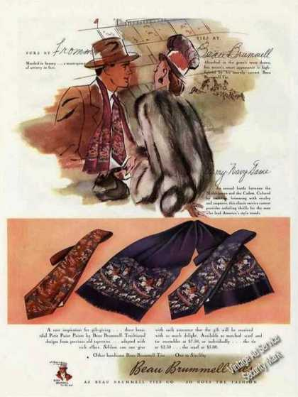 Furs By Fromm Ties By Beau Brummell Fashion (1946)
