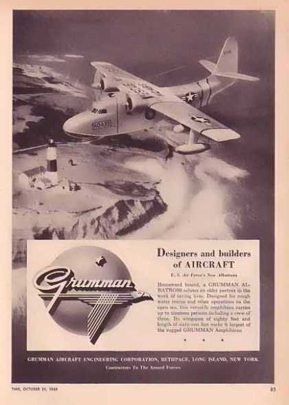 Grumman Aircraft – U.S. Air Force's New Albatross over Lighthouse (1949)