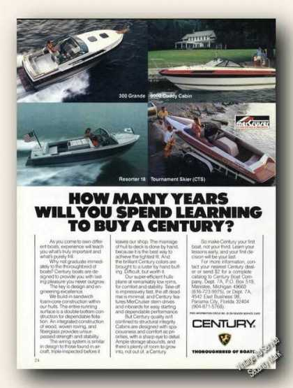 Century Boat Photos How Many Years Color Promo (1985)