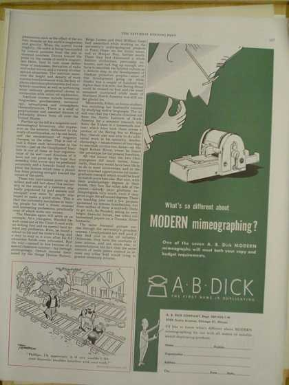 A.B. Dick Modern Mimeographing (1952)
