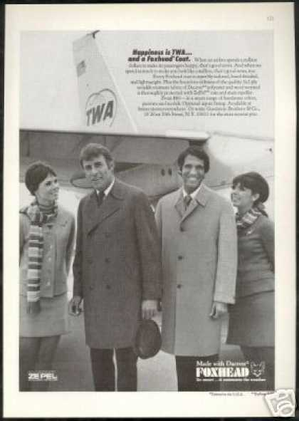 TWA Airlines Plane Stewardess Foxhead Coat (1969)