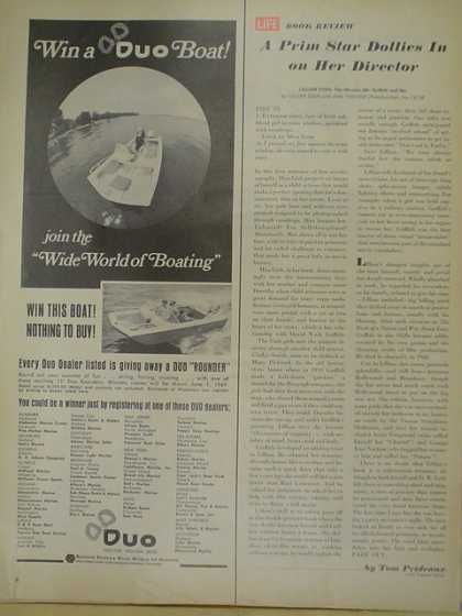 Duo Boats. Wide world of boating. Dealer listing (1969)