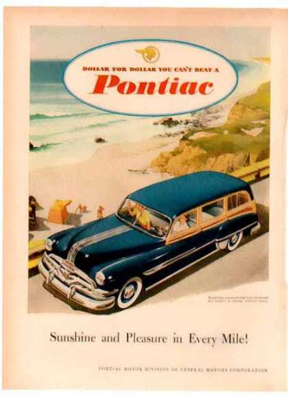 Pontiac Streamliner Station Wagon Car – The Beach (1949)