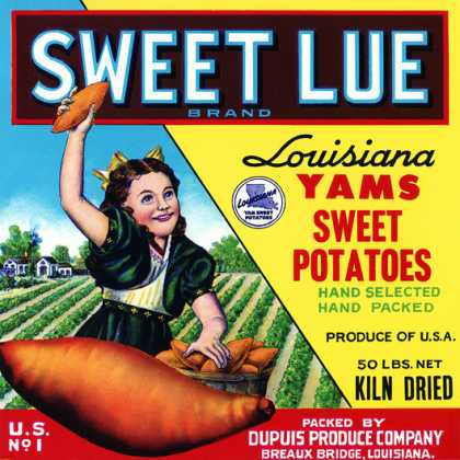 Sweet Lue Louisiana Yams DuPuis Produce Co., c. 			s (1930)
