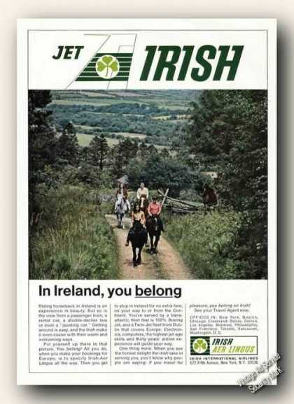 Ride Horseback In Ireland Photo Aer Lingus (1967)