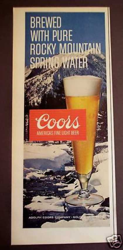 Coors Light Beer Winter Scene (1971)