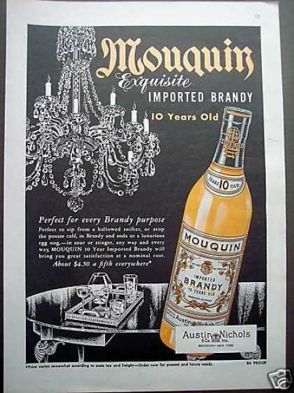 Mouquin Imported Brandy (1953)
