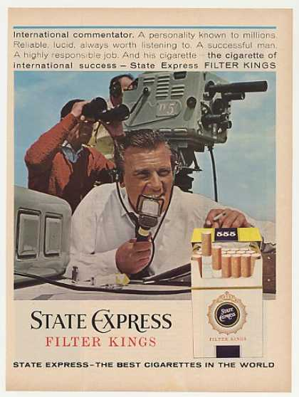 Int'l TV Commentator State Express Cigarette (1963)