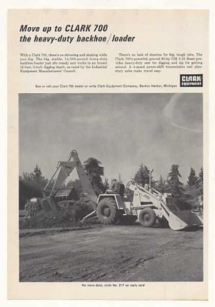 Clark 700 Heavy-Duty Backhoe Loader Photo (1967)