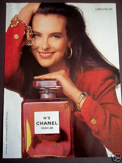 Chanel No 5 Perfume Giant Bottle Girl Photo (1989)