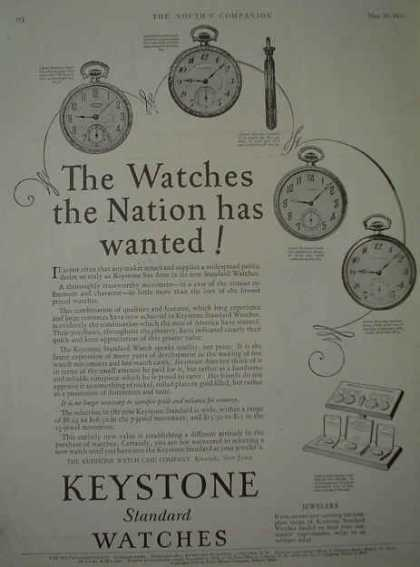 Keystone Watches The watches the nation has wanted (1926)