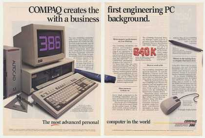Compaq Deskpro 386 PC Personal Computer (1987)