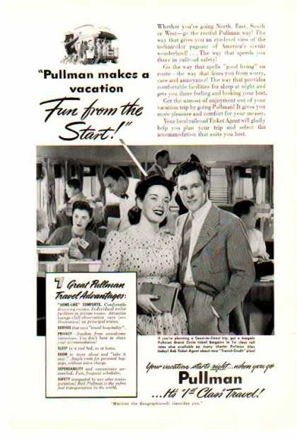 Pullman Company – 1st Class Travel Railroad Car (1941)