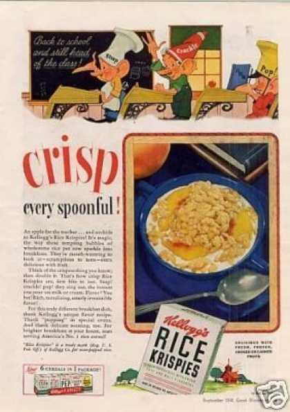 Kellogg's Rice Krispies Cereal (1941)