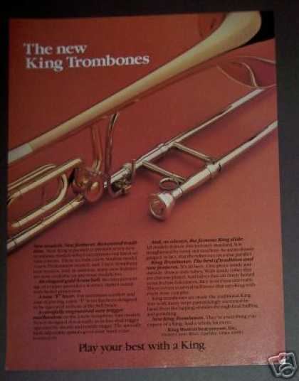 King Trombones Musical Instrument (1982)