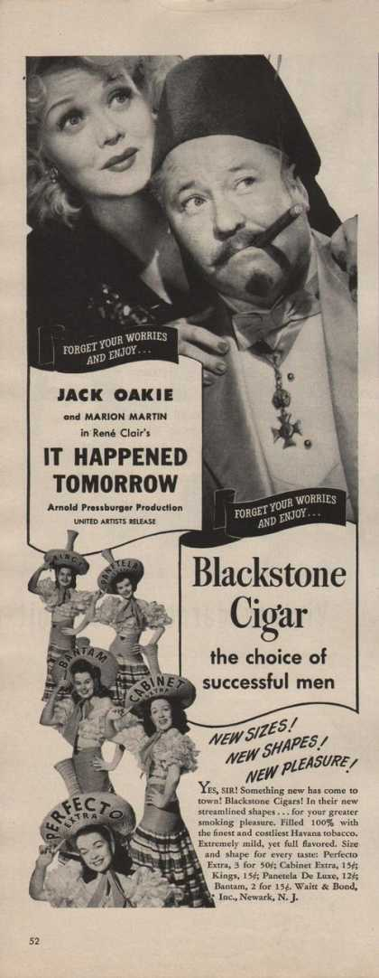 Blackstone Cigar Choice of Successful Men (1942)