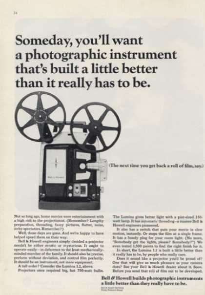 Bell & Howell Film Projector Print Photo (1964)