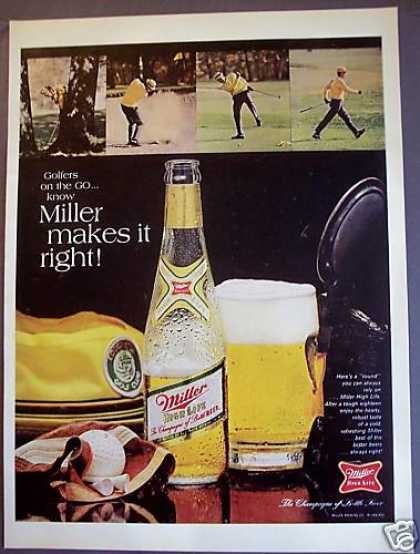 Original Miller High Life Beer Golf (1968)