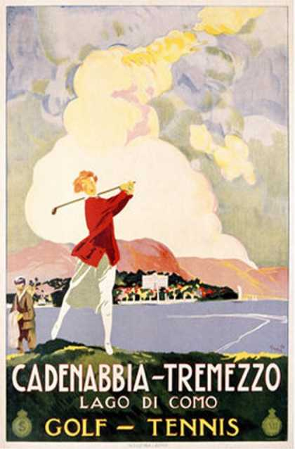 Cadenabbia to Tremezzo, Lago di Como, Golf and Tennis