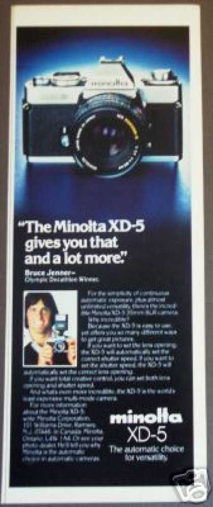 Minolta Xd-5 35mm Slr Camera Photo (1979)